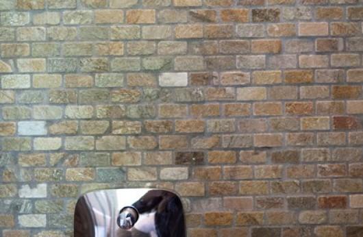 Quartzite mosaic beige 2,3x4 cm