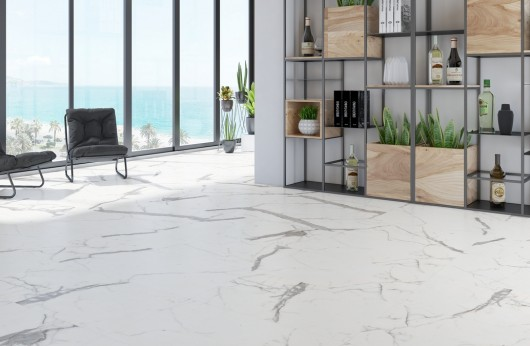 Gres porcelain tile 5,5 mm tickness Calacatta marble polished 60x120