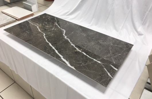 Gres porcelain tile 5,5 mm tickness Stone grey marble polished 60x120