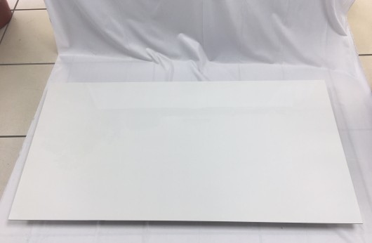 Gres porcelain tile 5,5 mm tickness Total White polished 60x120