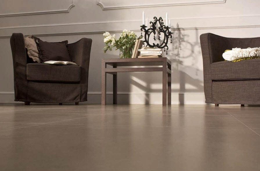 Porcelain gres tile 3,5 mm thickness Brown 1°choice 100x100 cm