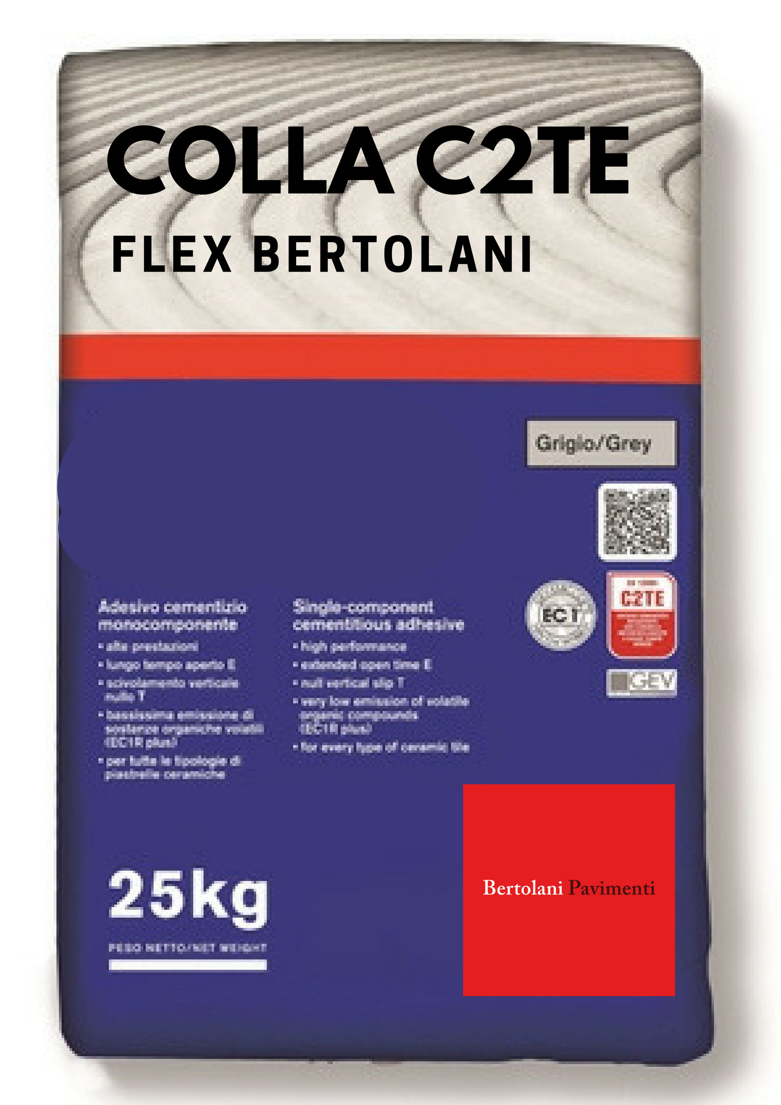 Grey Glue and White Flex with one bag you can pose 6mq