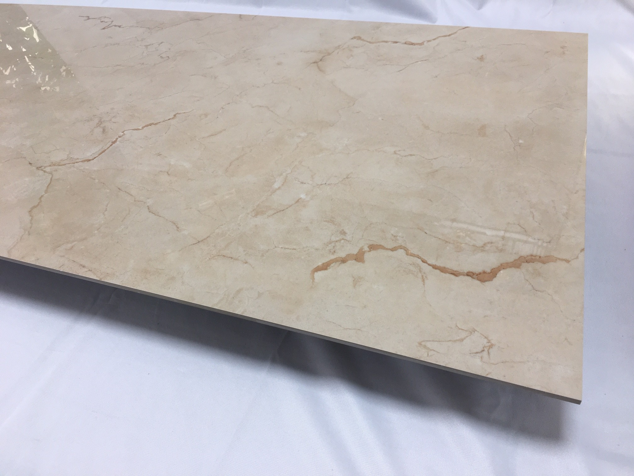 Porcelain gres tile 3,5 mm thickness Crema beige 1°choice 60x120 cm