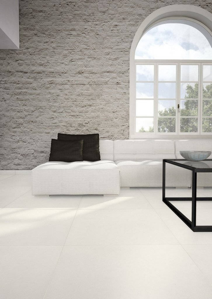 Gres porcelain tile 3 mm tickness Absolute White